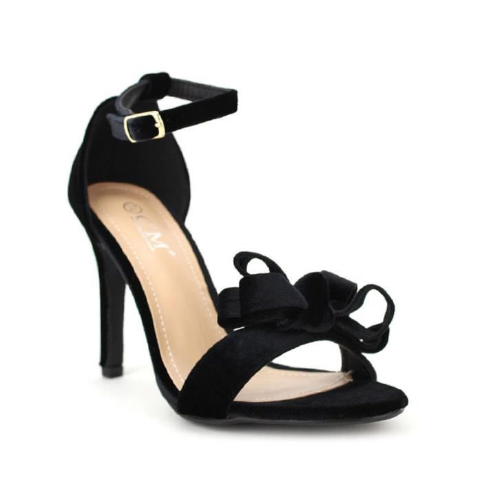 sandale - nu-pieds, Sandales Noir Chaussures Femme, Cendriyon