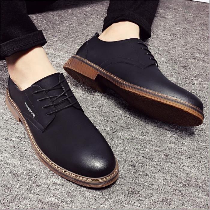 Chaussures Hommes Cuir Confortable mode Homme chaussure de ville BBDG-XZ194Noir39