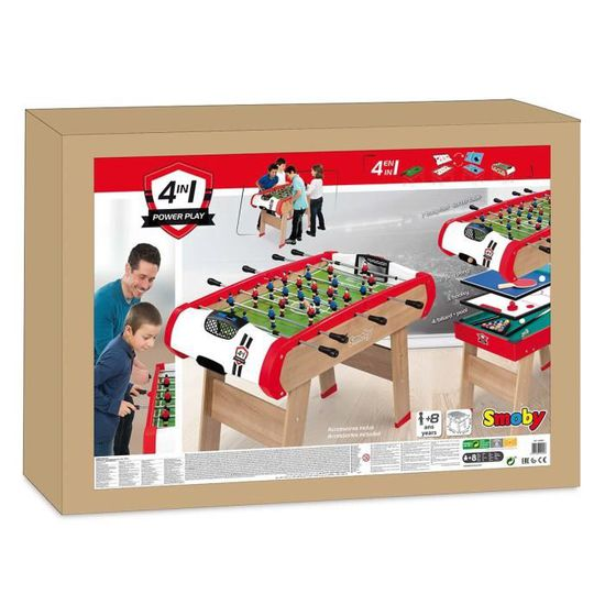 SMOBY Powerplay  Billard Babyfoot Palais Ping Pong - Achat   Vente table  multi-jeux - Cdiscount 9f2659e66ae3