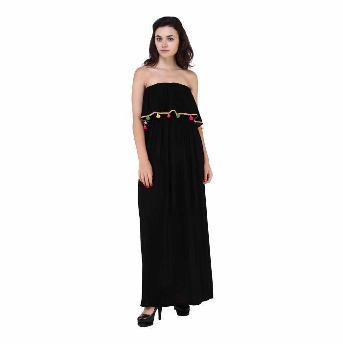 Bazar secret Rayon de femmes en couches Robe asymétrique (noir) 1DZ1HR Taille-34