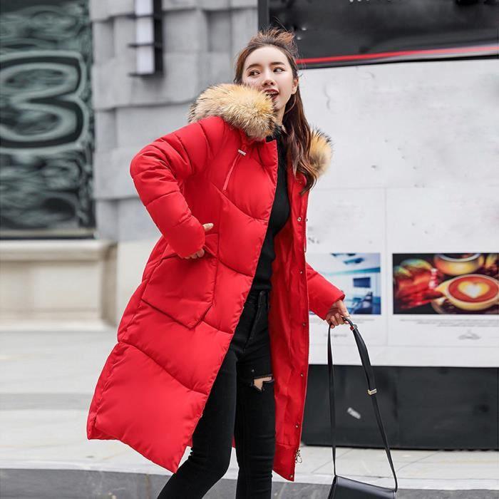 Fausse À Chaud Épais Capuchon Veste Femmes Slim D'hiver Fourrure Manteau Les Paontry3910 En Long 1wBIYWq