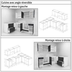 cuisine complete noir laque achat vente cuisine complete noir laque pas cher cdiscount. Black Bedroom Furniture Sets. Home Design Ideas