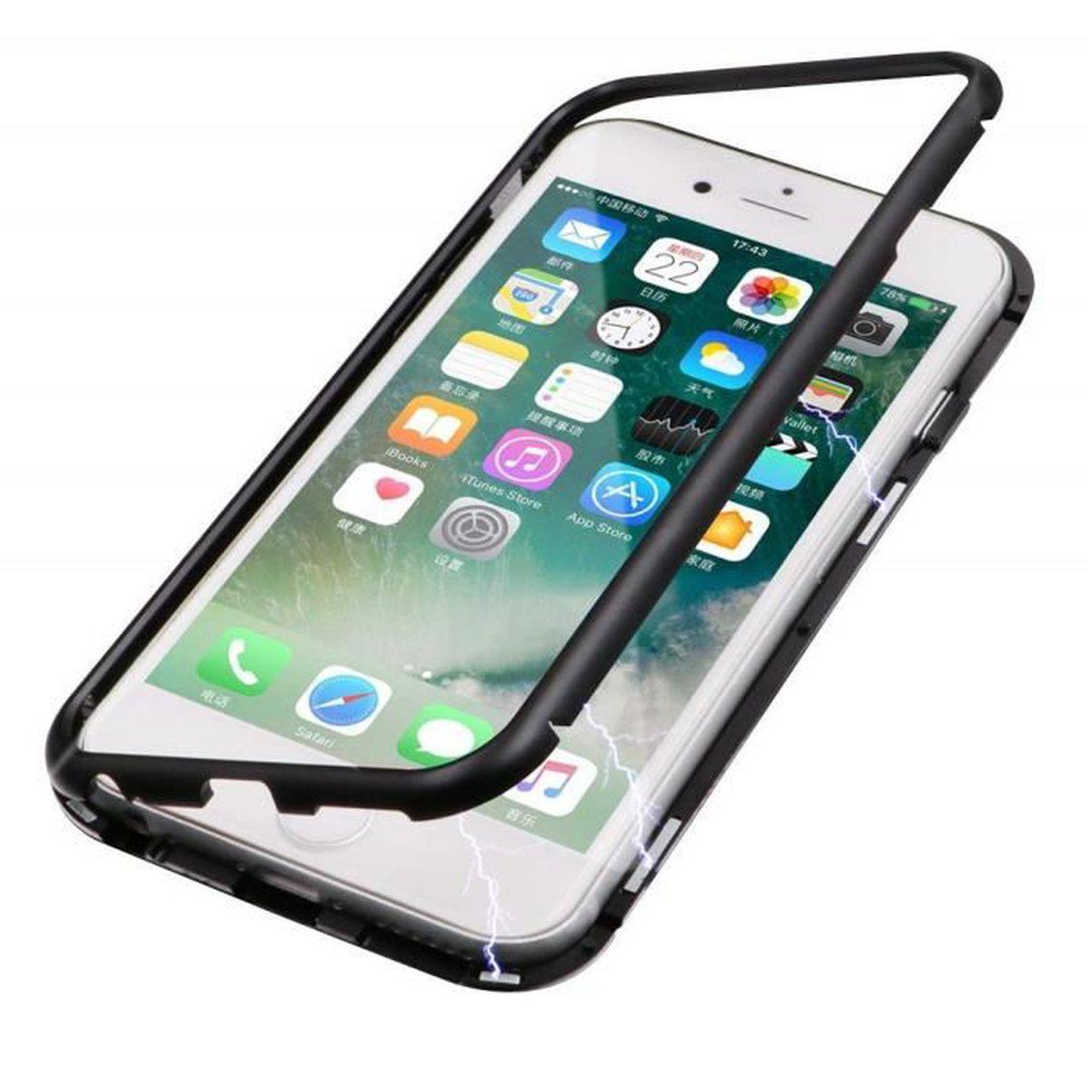 coque iphone 6 noir aimantee