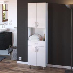 COLONNE - ARMOIRE SDB ARMANDO Armoire de salle de bain L 50 cm - Blanc M