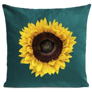 COUSSIN ARTPILO - Coussin SUN FLOWER Coton déperlant - Ver