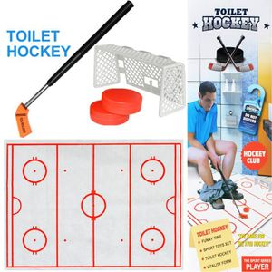 TABLE JOUET D'ACTIVITÉ Toilettes Hockey Jeu Décompression Fun jeu de hock