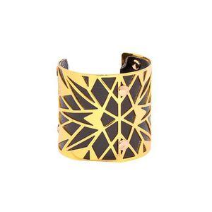 BRACELET , GOURMETTE Bracelet Manchette femme ciselée couleur doré