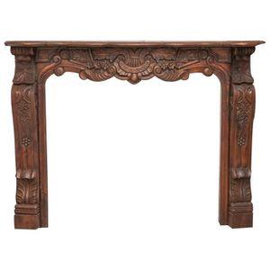OBJET DÉCORATIF Cadre de cheminée en bois massif sculpté cadre en