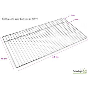 USTENSILE Grille barbecue 62 x 35 cm, grille simple de cuiss
