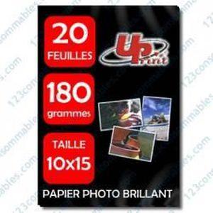 PAPIER PHOTO Papier photo PREMIUM UPRINT compatible.10x15.180 g