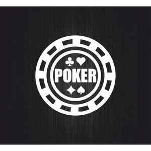 DÉCORATION VÉHICULE Autocollant sticker jeton poker table casino  r3