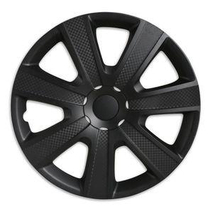 ENJOLIVEUR Carbon black - enjoliveur 14 pouces noir - set de