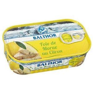 AUTRE CONSERVE POISSON Foie de Morue au citron Balthor - 121 g