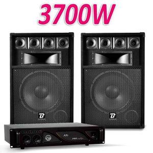 PACK SONO PACK Enceintes SONO DJ PA BOOMTONE 31cm BM12  2x35