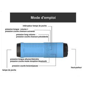 HAUT-PARLEUR - MICRO CABLING® Enceinte Bluetooth sans Fil avec Port USB