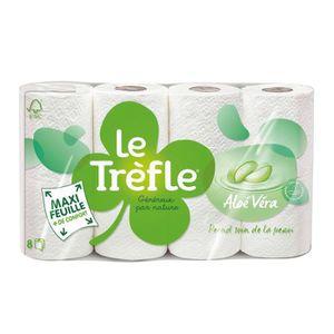 PAPIER TOILETTE LE TREFLE Papier toilette Aloe Vera x8