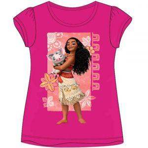 544ff2abfe29e T-SHIRT VAIANA - T-shirt manche courte été Rose 5 ans Moan