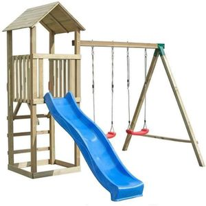 BALANÇOIRE - PORTIQUE Balançoire / Portique H2.65m enfant Aire de Jeux e