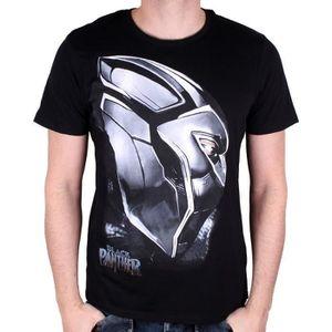 T-SHIRT MARVEL BLACK PANTHER T-shirt Destroy Noir Imprimé
