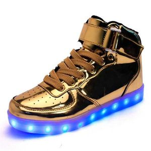 ESPADRILLE Chaussures Montante Femme Homme LED USB Rechargeab