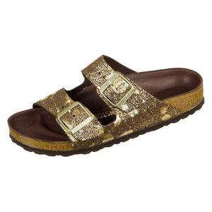 SANDALE - NU-PIEDS Chaussures Birkenstock Arizona Hex Metallic Brown