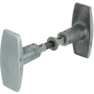 SERRURE - BARILLET Bouton double aluminium poli Vachette