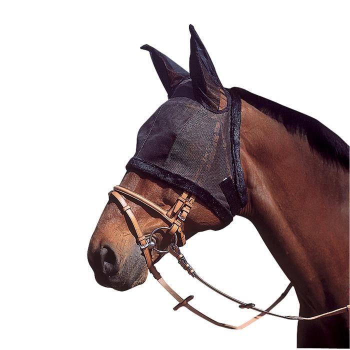 Bonnet en résille pour oreilles de cheval - Noir
