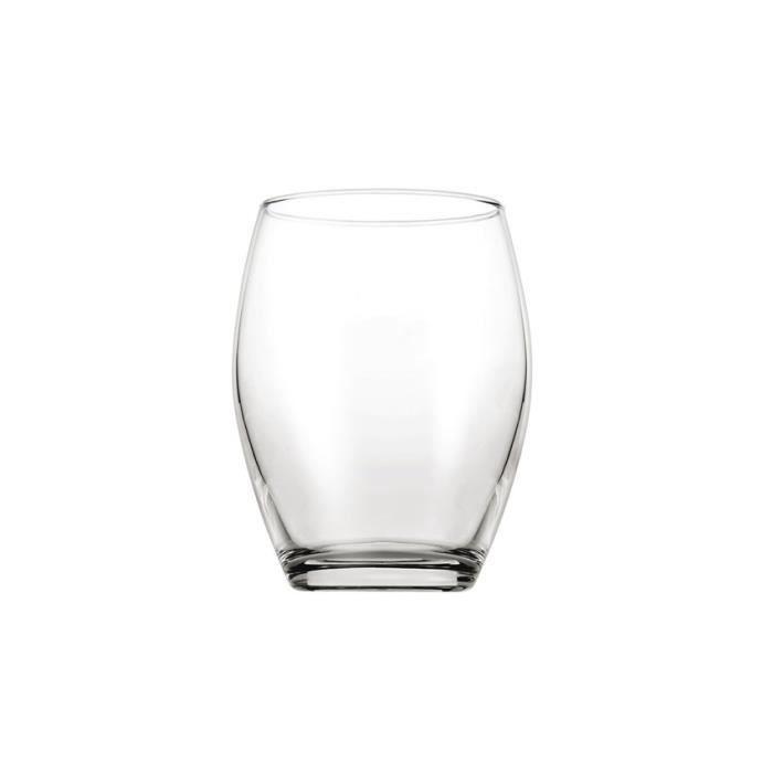 PASABACHE Lot de 6 gobelets Monte Carlo - 39 cl - Transparent
