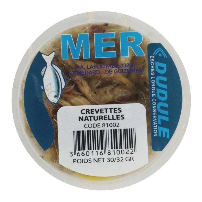 DUDULE Appats Amorces Esches Crevettes Entieres Naturelles en Boite