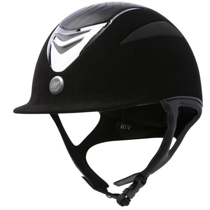 EQUI-THEME Casque d'équitation air microfibre / cuir - noir