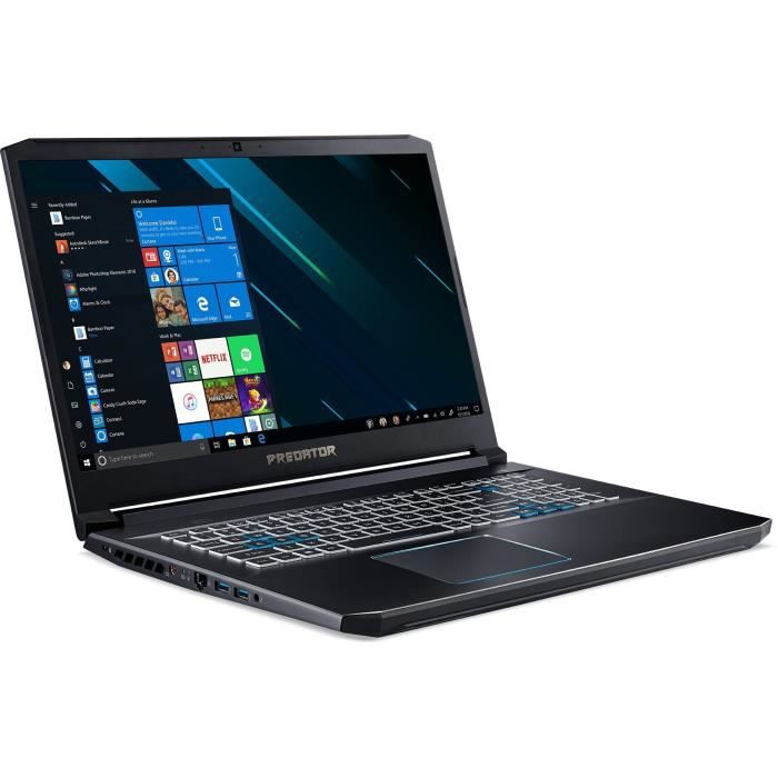 Pc portable gamer acer predator ph317 53 72p5 173 fhd i7 9750h 16go stockage 1to hdd 256go ssd rtx 2060 6go win 10