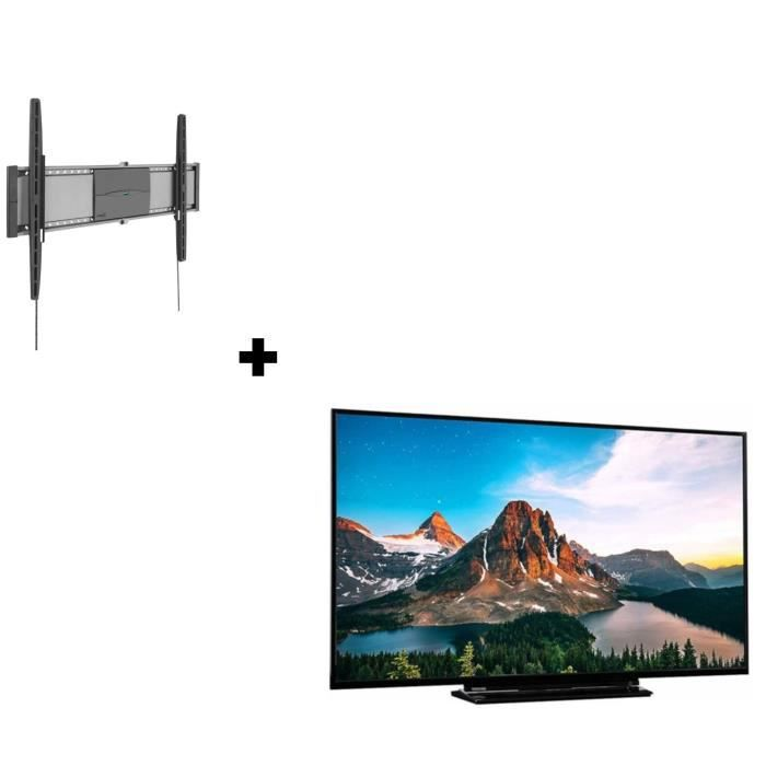 Toshiba tv led uhd 4k 55 support tv mural vogels fixe