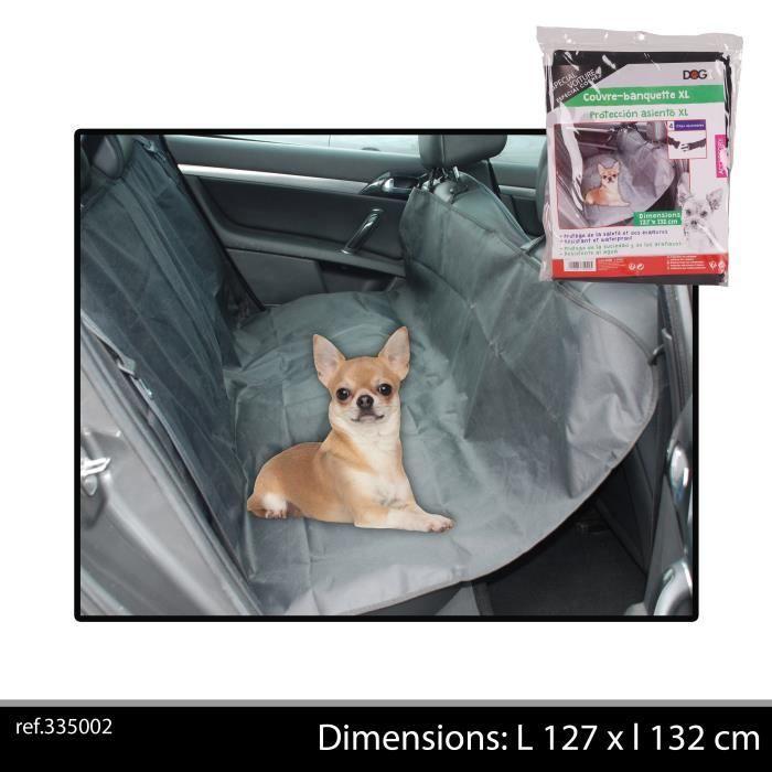 DOGI Couvre siège de voiture 127x132 cm - Gris - Pour chien