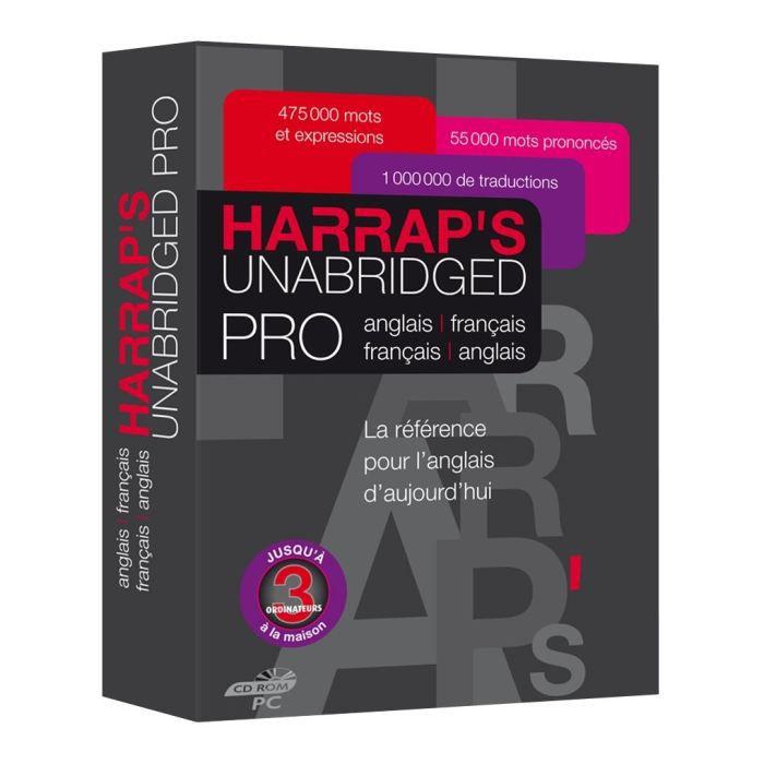 D'usage professionnel, Le Harrap's Unabridged Pro réunit le Harrap's Unabridged, le dictionnaire Harrap le plus vaste de l'anglais moderne, et le Harrap's Business, le dictionnaire spécialisé des affaires. C'est ainsi plus de 1 000 000 de traductionsLOGIC