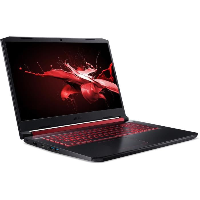 Pc portable gamer acer nitro an517 51 50qy 173 fhd core i5 9300h ram 8go 1to hdd 128go ssd gtx 1650 4go w10
