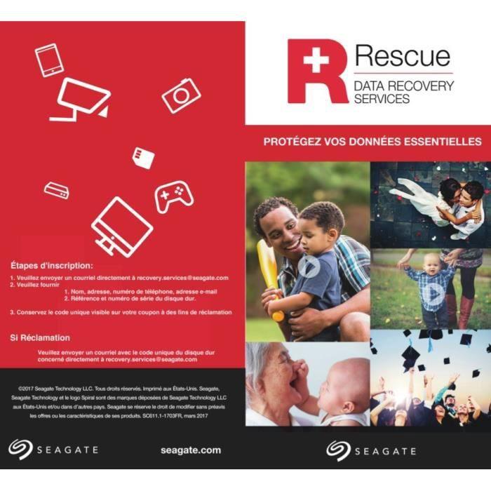 SEAGATE Rescue pour HDD et SSD Produits - 3 ans