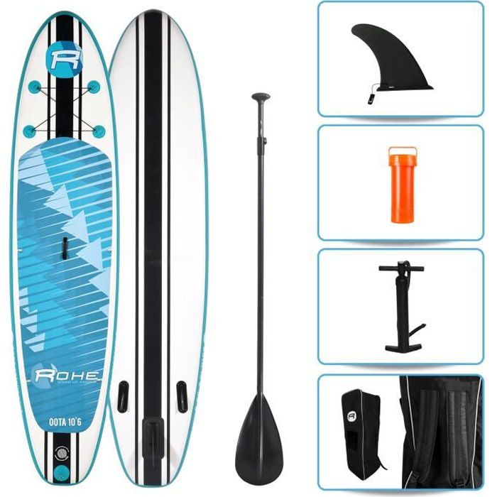 ROHE Pack Paddle Gonflable Oota - 320x76x15cm - Avec accessoires
