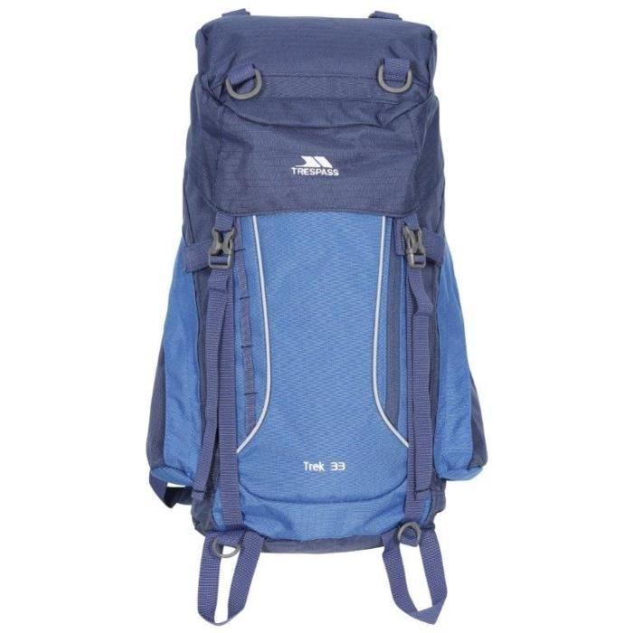 TRESPASS Sac à dos de randonnée Trek 33 - 33 litres - Bleu électrique