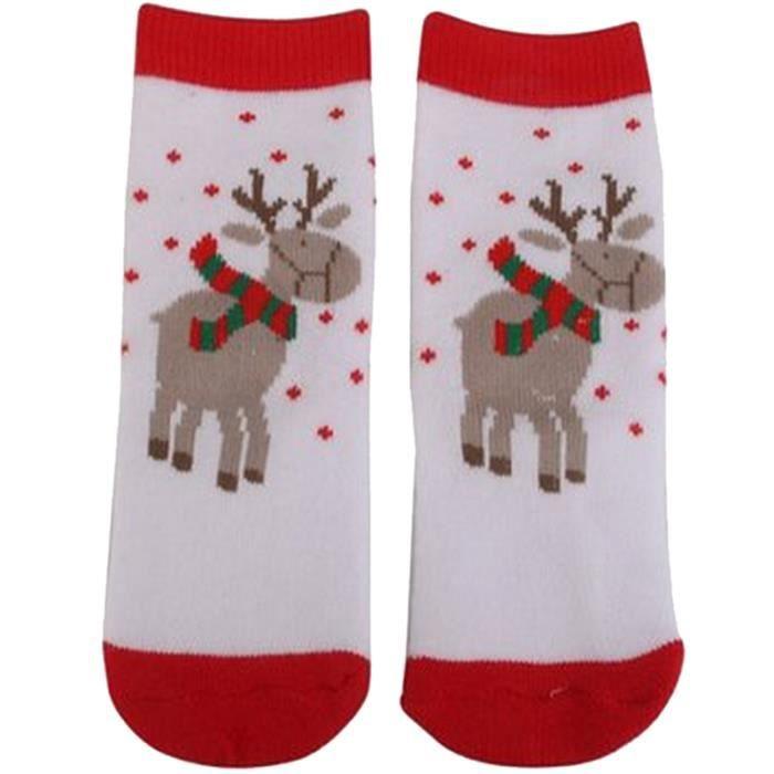 1 paire motif de renne enfant noel chaussettes 1 3 ans achat vente collant jambiere. Black Bedroom Furniture Sets. Home Design Ideas