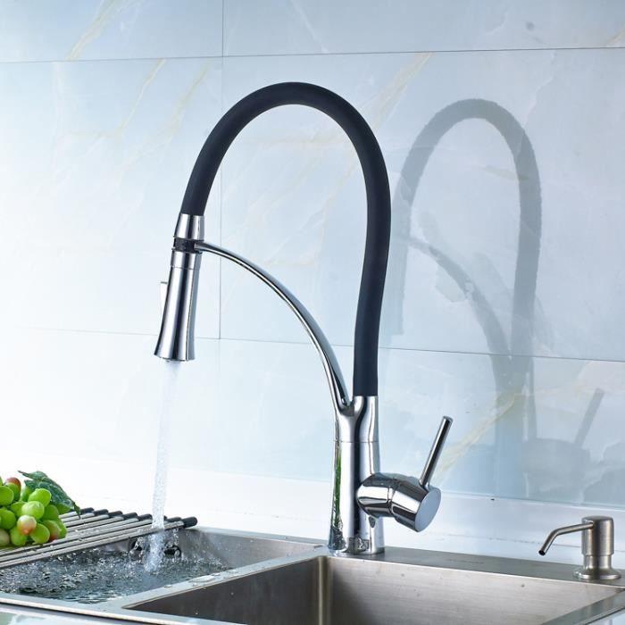 robinet cuisine noir rabattable 360 mitigeur pour evier. Black Bedroom Furniture Sets. Home Design Ideas