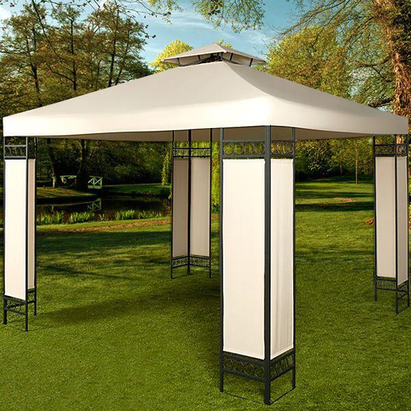 Pavillon tonnelle lorca 3x3 m tres beige achat vente for Achat pavillon neuf