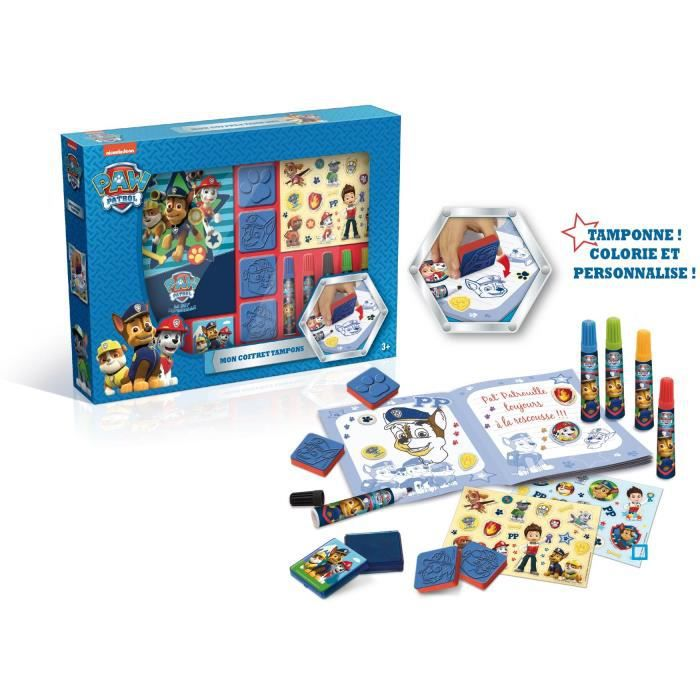 Crayons Coloriage Pat Patrouille.Canal Toys Pat Patrouille Coffret Tampons Loisirs Creatifs