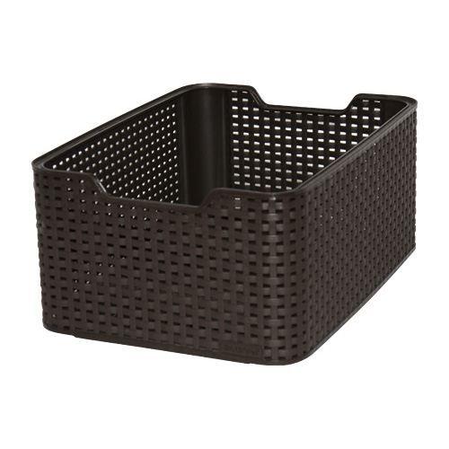 Panier de rangement Curver Style L marron - Achat / Vente casier pour meuble Plastique - Black ...
