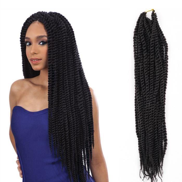 1pcs cheveux tissé noir africain tresse sale