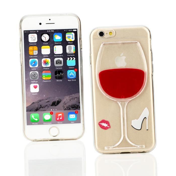 coque iphone xr verre de vin