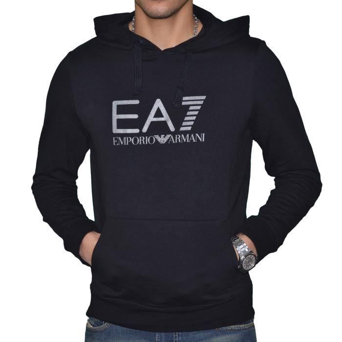 EA7-Sweat Emporio Armani EA7 Homme à Capuche 274377 Noir NOIR ... 7ab5f1da97a