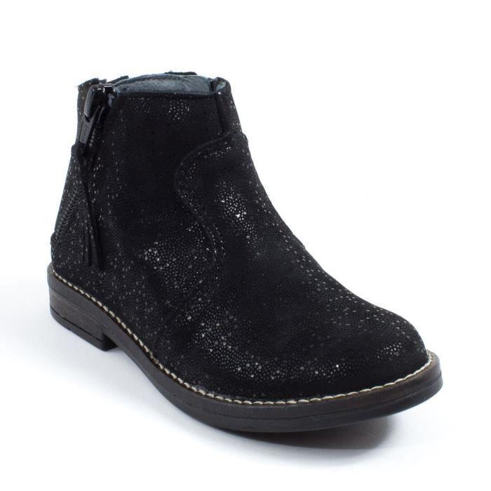 Babybotte Low Boots fille à fermeture KIMONO noir
