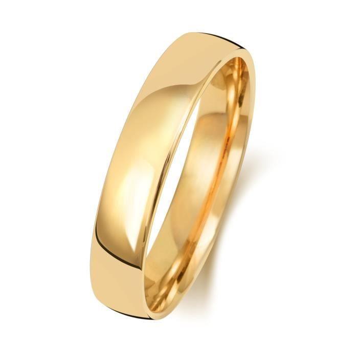 Bague de Mariage-Alliance Homme-Femme 4mm Demi Confort Or 375-1000 30945