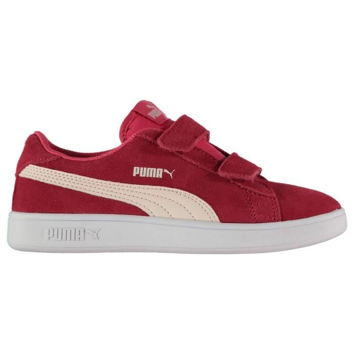 Puma Enfants Baskets En Daim 2 Bandes Velcro