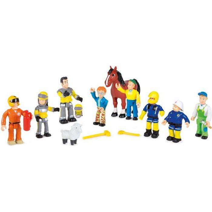 Sam le pompier coffret 10 figurines achat vente - Sam le pompier personnages ...